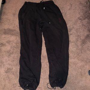 Black Jordan sweatpants